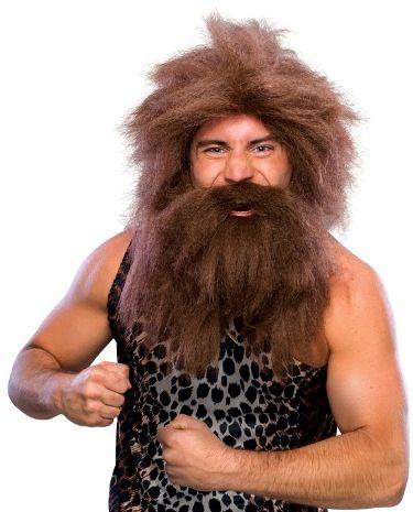 Adult Men Crazy Prehistoric Caveman Costume Wig Beard  sc 1 st  Pinterest & FUNNY WIG. Adult Men Crazy Prehistoric Caveman Costume Wig Beard ...