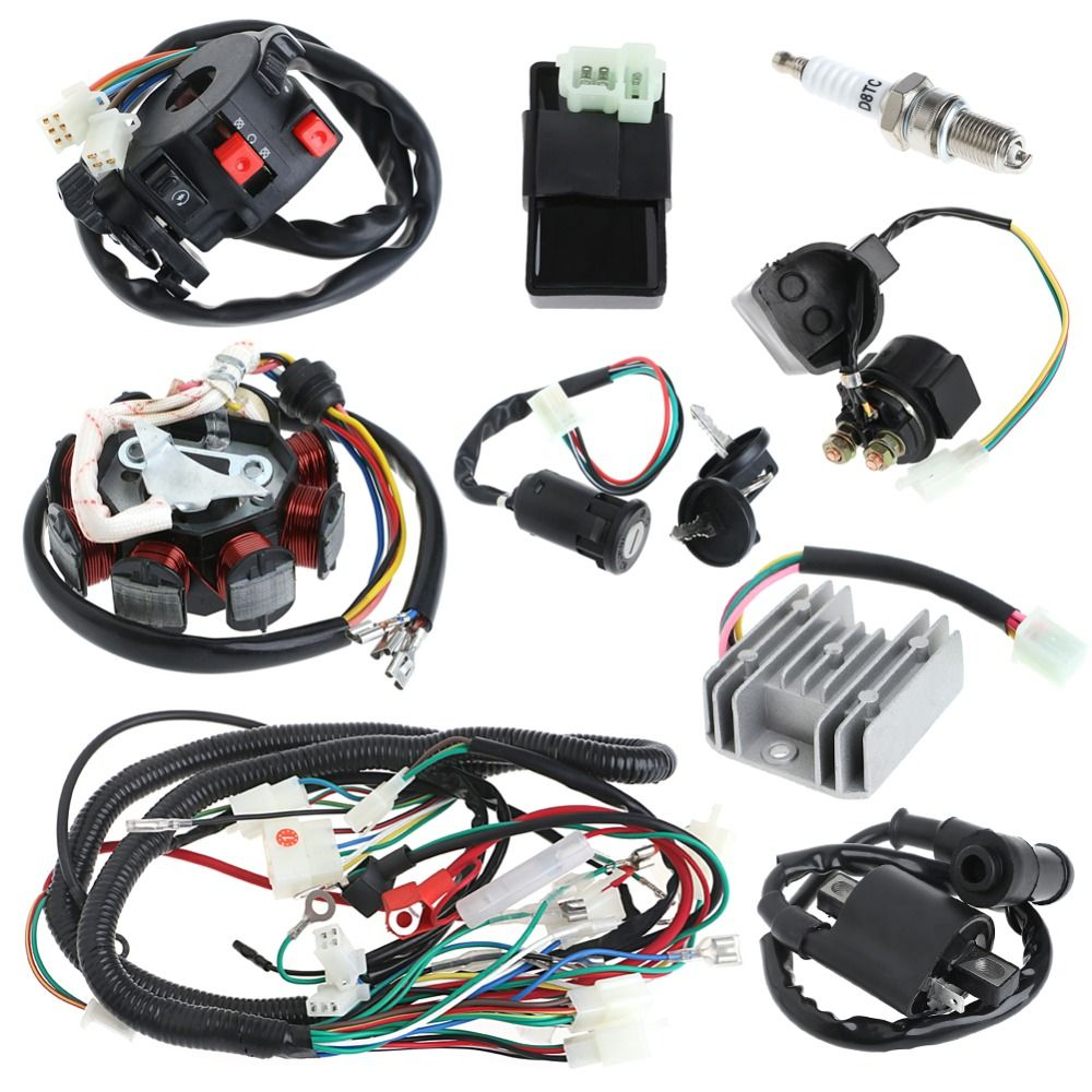 150cc Electrics Stator Wire Harness Loom Magneto Coil CDI Rectifier on factory wire harness, hand tool power supply wire harness, wiring harness, cannon plugs wire harness,