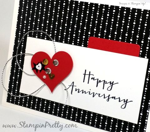 Happy Anniversary Card For Ppa265 Stampin Pretty Happy Anniversary Cards Anniversary Cards Handmade Anniversary Cards For Husband