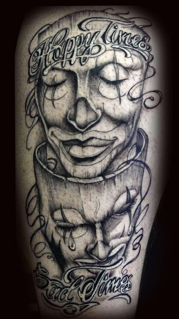 classic comedy tragedy slick body art pinterest tattoo tatting and guy tattoos. Black Bedroom Furniture Sets. Home Design Ideas
