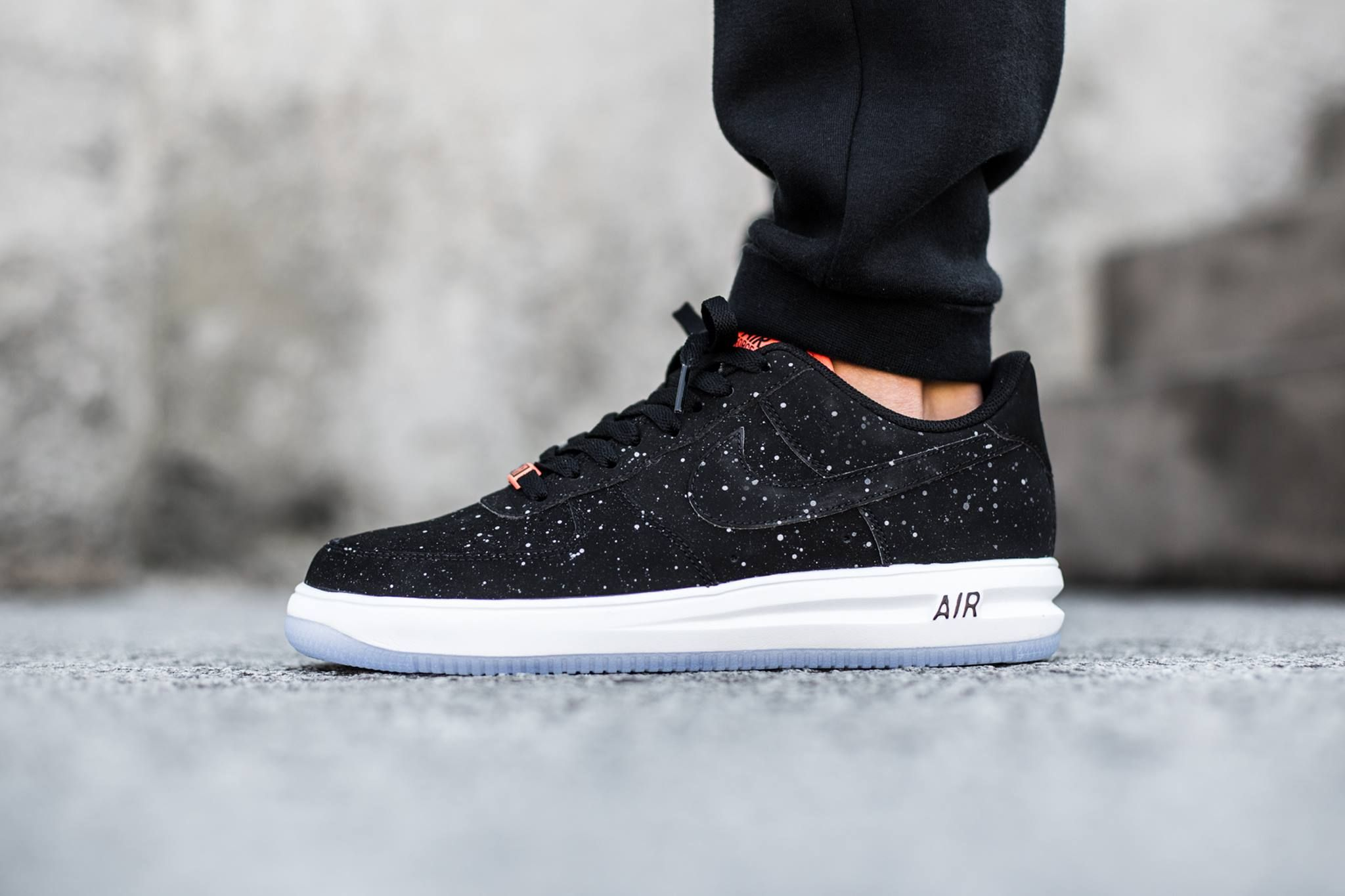 "fa8e0fa22a77 NIKE LUNAR FORCE 1 LOW ""PAINT SPLATTER"" - BLACK"