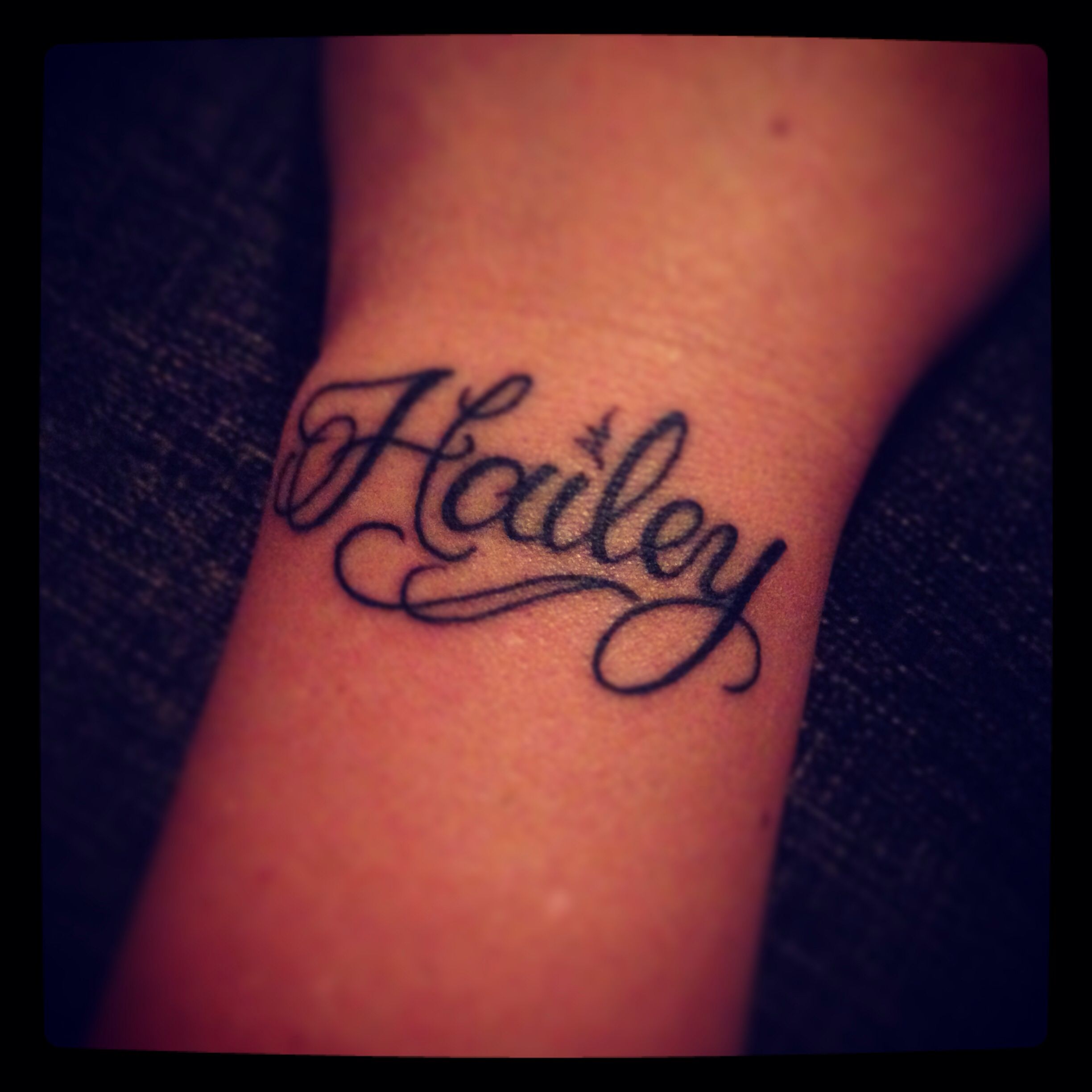 daughters name on left wrist my
