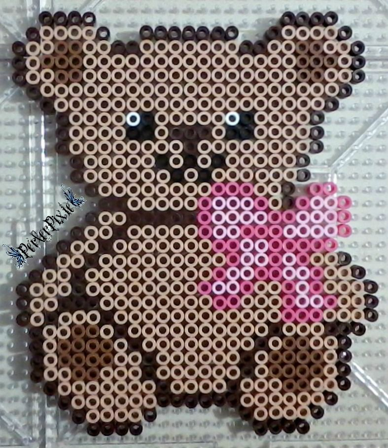 Teddy Bear perler beads by PerlerPixie