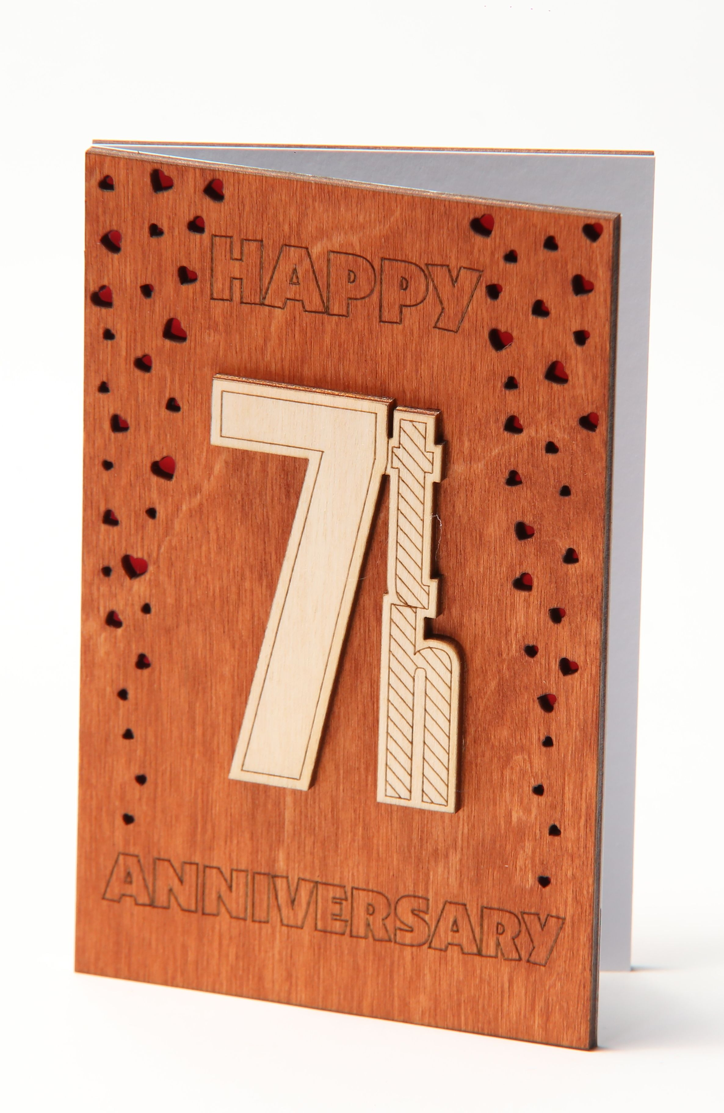 Happy 7th Anniversary Card Gift for Seven Years Seventh 7
