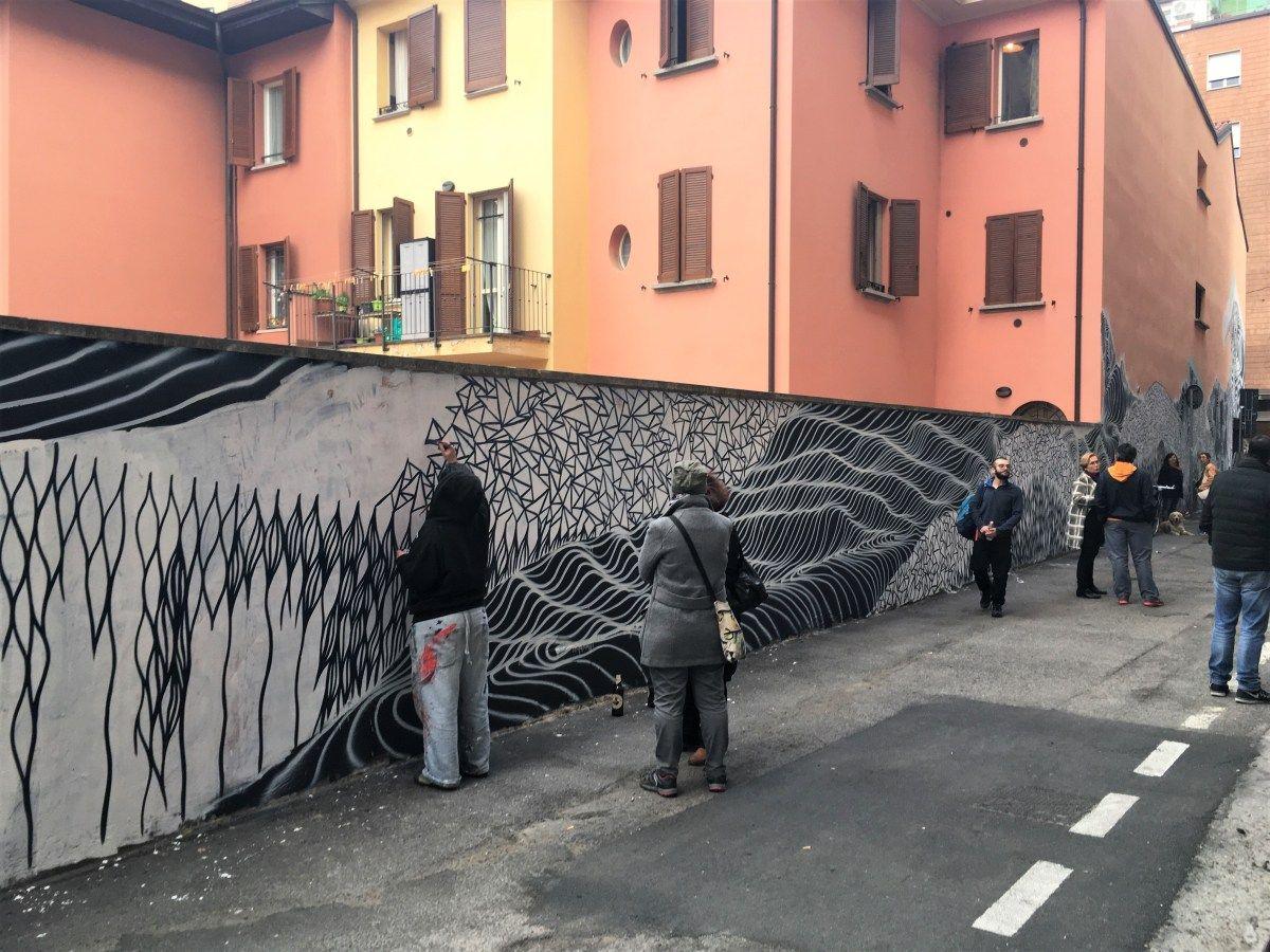 The Murals of Via Majorana   Murals street art, Mural, Italy