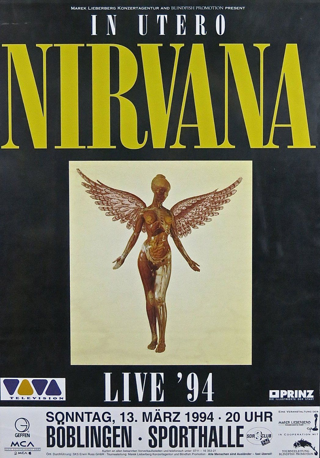 Nirvana reproduction Concert photo affiche 40x30cms: Amazon fr