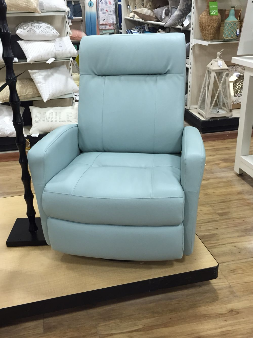 Home Goods leather recliner in light blue. Home Goods leather recliner in light blue    Home   Pinterest