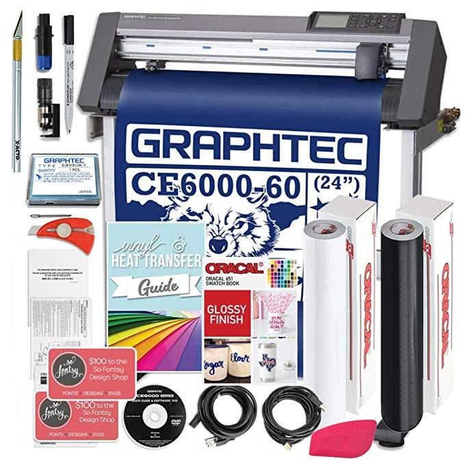 Amazon Com Graphtec Plus Ce6000 60 24 Inch Professional Vinyl Cutter With Bonus Design Software Oracal 651 And 2 Y Swing Design Oracal Vinyl Patterned Vinyl