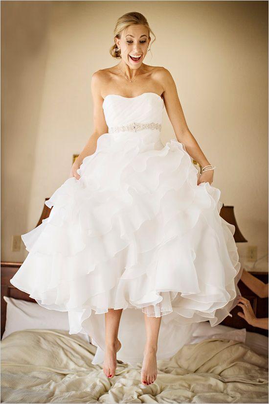 wedding dress by The Wedding Bell #bride #weddingdress #weddingchicks http://www.weddingchicks.com/2014/03/04/funky-seaside-wedding/