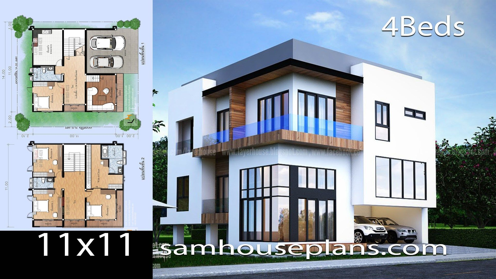 House Plans 11x11 With 4 Bedroomsinformation You Should Know Of The Model 2p60living Area Of The B In 2020 House Plans House Front Design House Architecture Design
