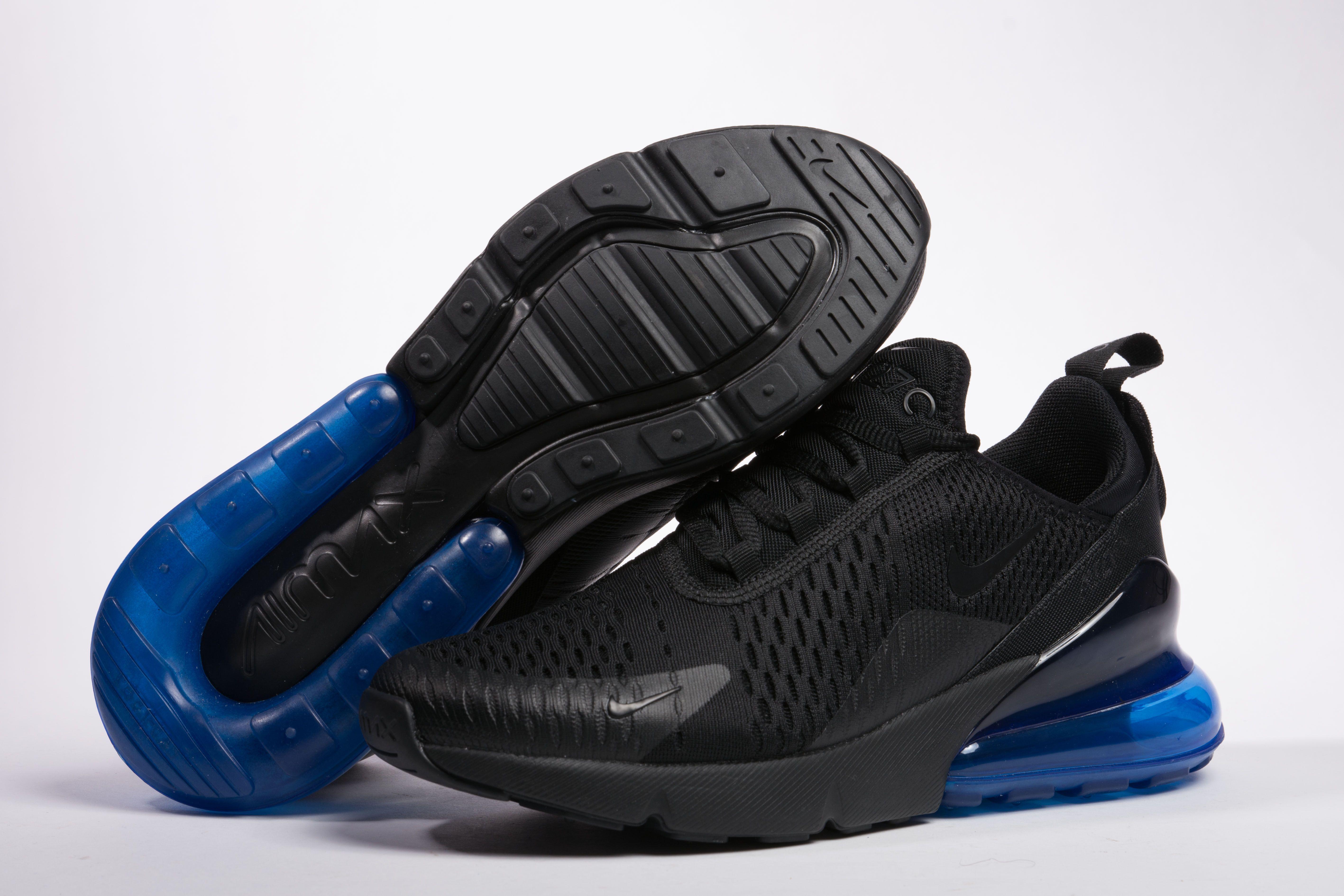 Mens Nike Air Max 270 Black Photo Blue AH8050 009