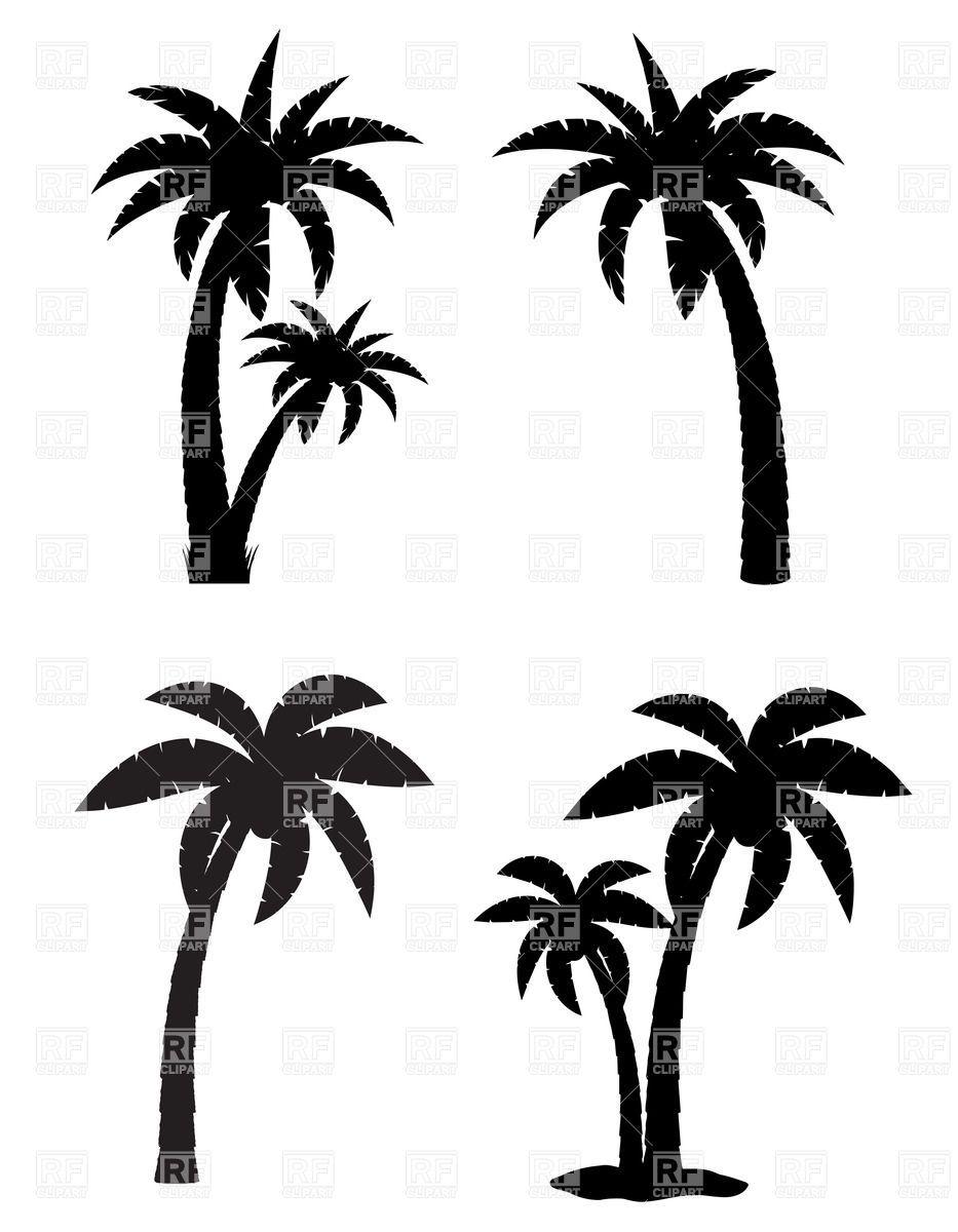 palm tree tattoo black and white - photo #8
