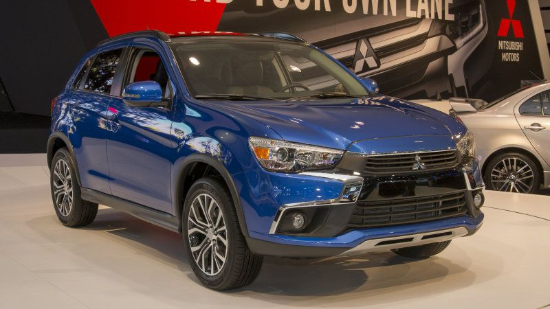 2016 Mitsubishi Outlander Sport shows its new nose