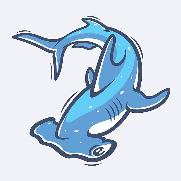 Hammerhead shark sea life vector illustration Vector
