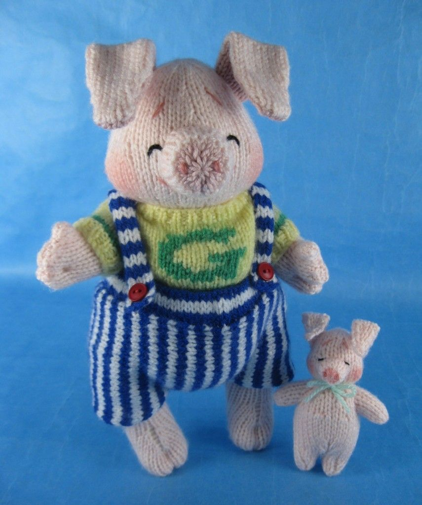 Alan Dart Knitting Pattern: Giggle and Likkle Piggle - sold with ...