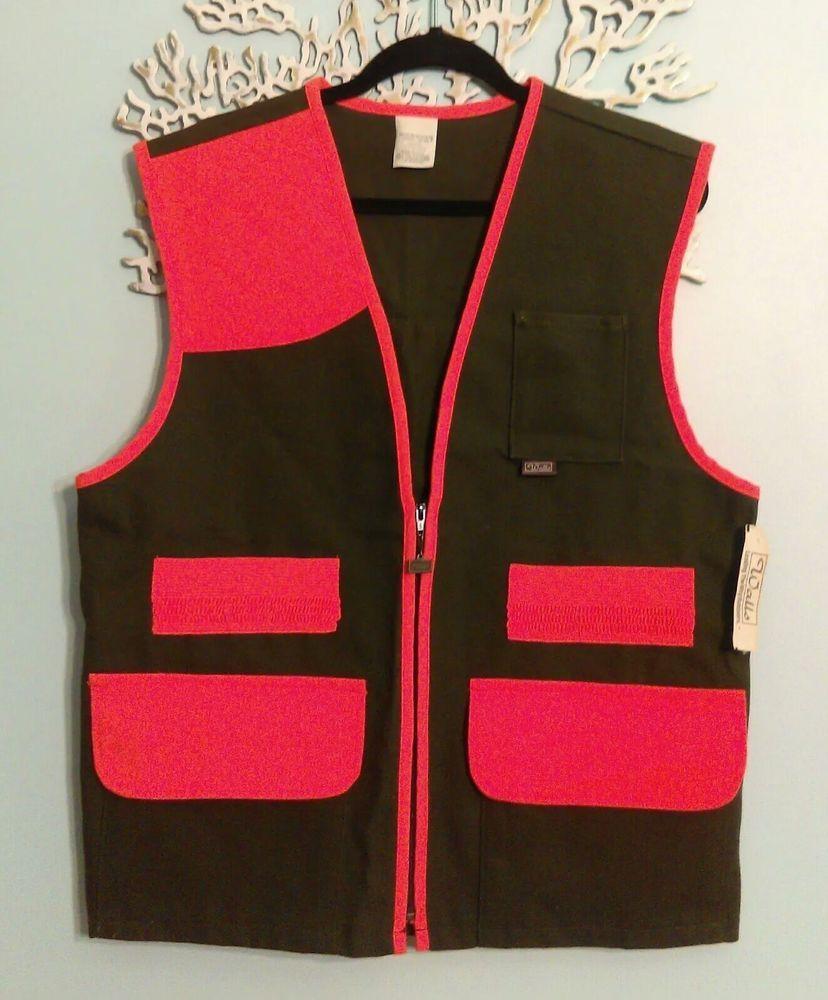 nwt vintage 70s walls green orange vest hunting vest mens on walls hunting coveralls id=52477