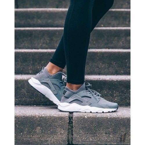 Nike Air Huarache Run Ultra Silver Gray Men s Shoes   Outfit ideas ... d64b17cc6dea