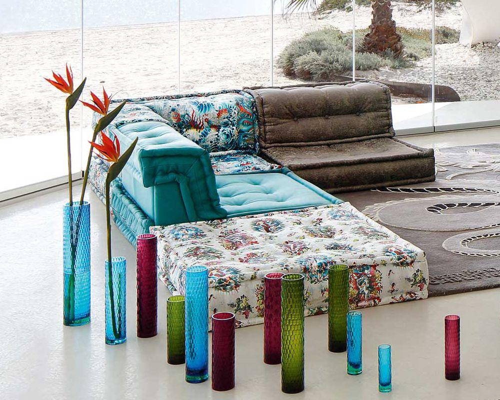 Roche Bobois Mah Jong Sofa In Jean Paul Gaultier Designed Upholstery