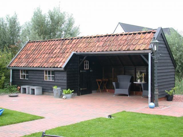 Monica 2 8 x 4m met luifel van 2 x 4 m patio bbq - Baraque de jardin ...