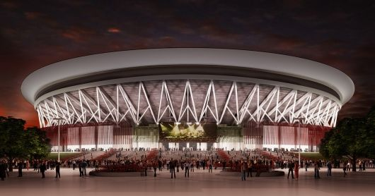 The World S Largest Indoor Arena By Populous Officially Opens In Manila Philippines Landscape Architecture Model Indoor Arena Stadium Architecture