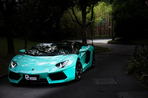 Tiffany Blue Lamborghini Aventador Awesomest Vehicles In