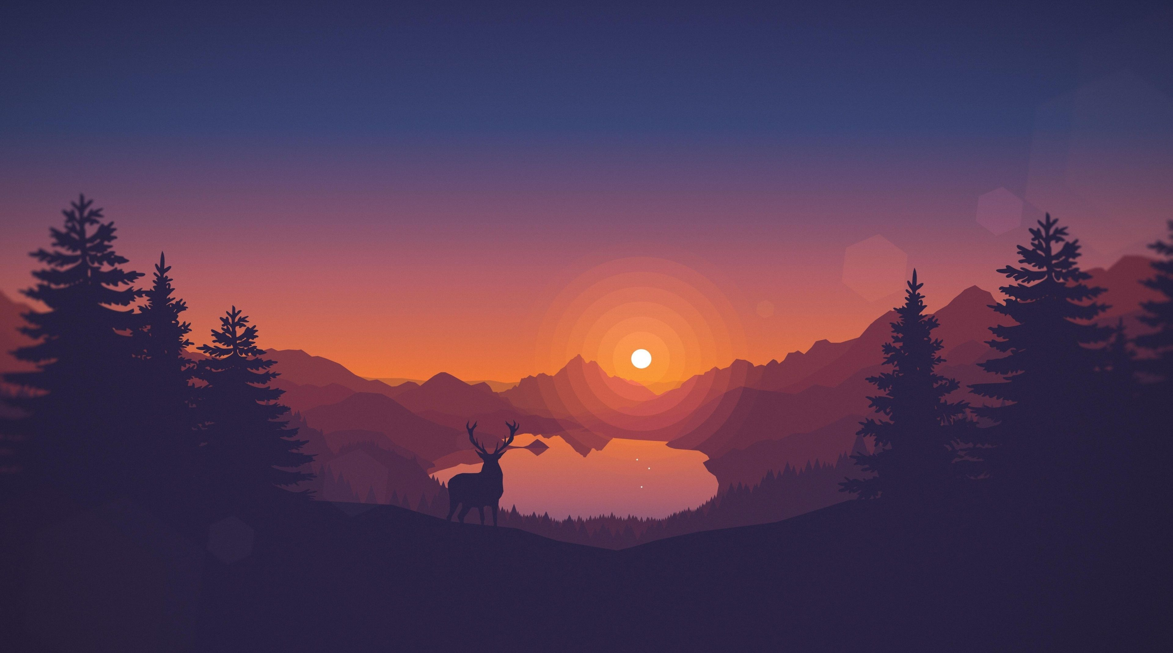 3840x2138 firewatch 4k desktop wallpaper cool Minimalist