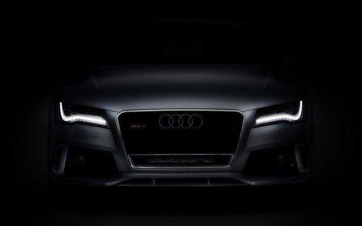 Telecharger Fonds D Ecran Audi Rs7 2017 Noir Rs7 Vue De Face Noir Mat Peinture Feux A Led Audi Besthqwallpapers Com Audi Voitures Noires Voiture