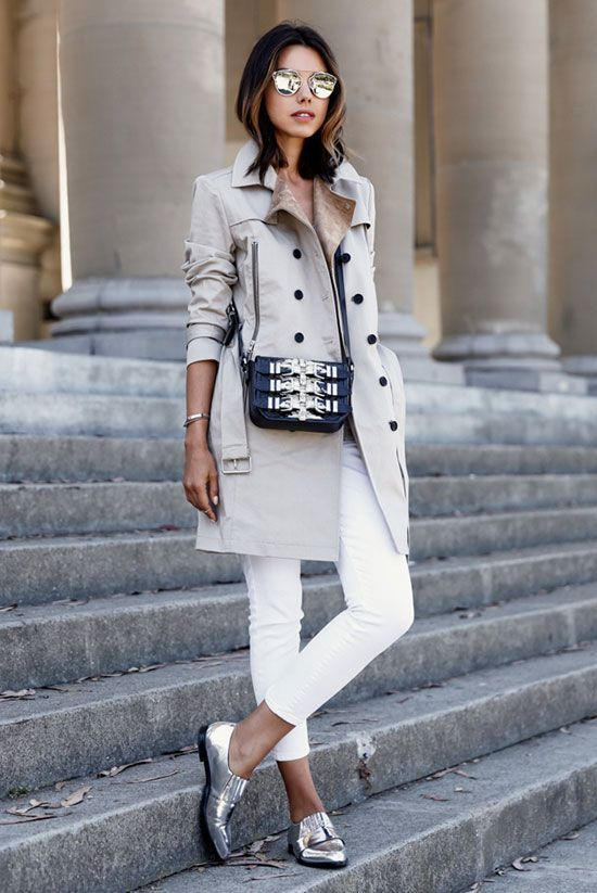 20 Ways To Style Your Favorite Trench Coat #rainydayoutfitforwork