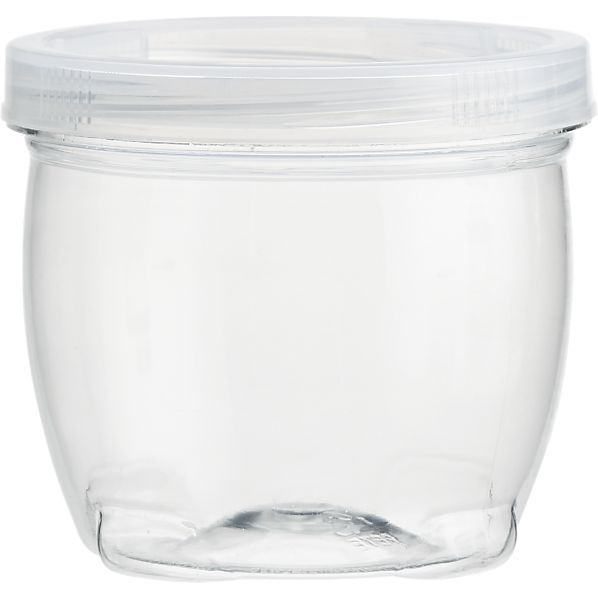 Large Lock Up Jar With Lid In Office Accessories | Crate And Barrel    Stackable Containers