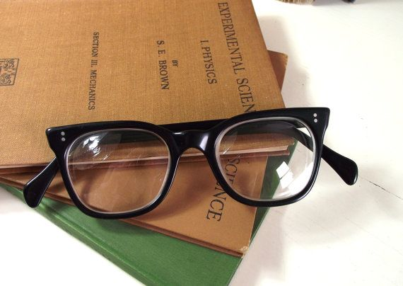 fe1385302a68 1960s Mens Vintage Eyewear British Black by VintageAndLoved