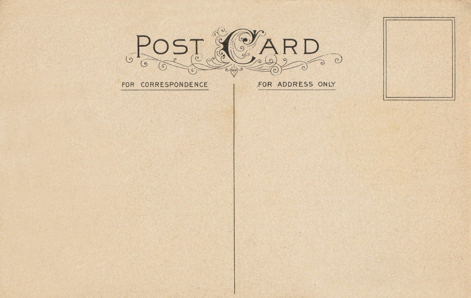 10 Best Images Of Vintage Postcard Templates Free Free Rsvp