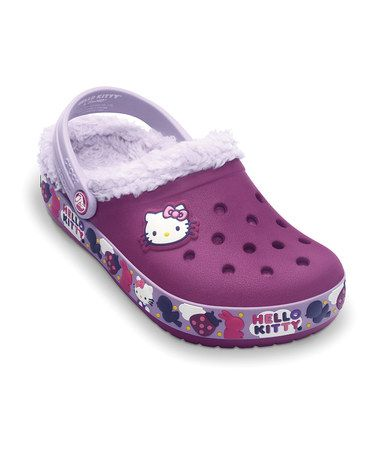 Take a look at this Viola & Lavender Hello Kitty Mammoth Clog - Kids by Crocs on #zulily today!
