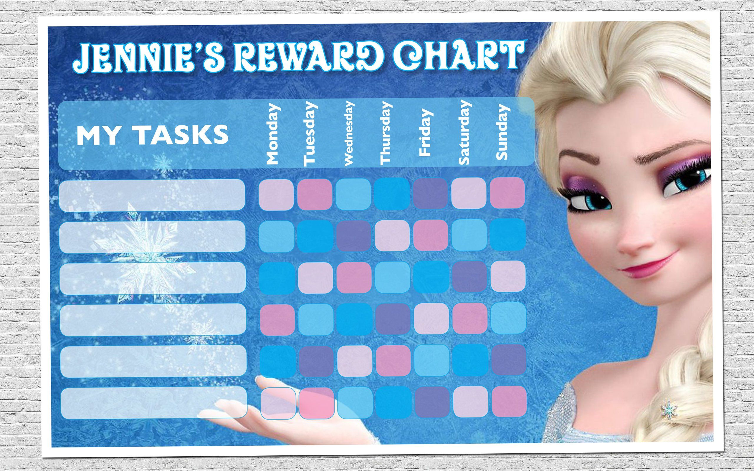 Frozen Rewards Chart By Jcdesignstudios On Etsy Reward Chart Printable Reward Charts Reward Chart Kids