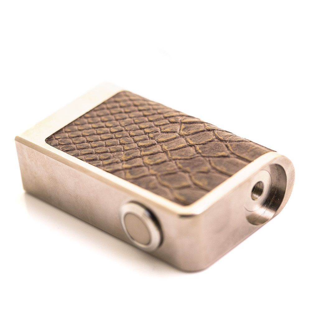 tarsius box mod tarsius box mod features t6 aluminum electroplated authentic leather wrapped. Black Bedroom Furniture Sets. Home Design Ideas