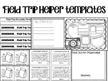 editable field trip helper templates teaching units