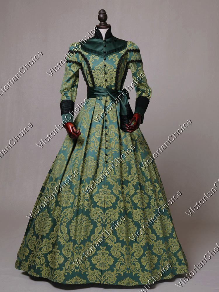Victorian Regal Queen Brocade Dress Game Of Thrones Gown Reenactment