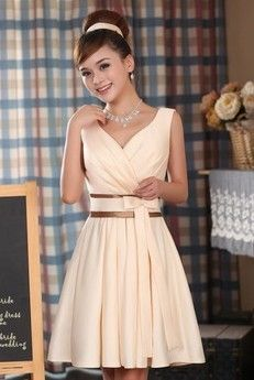 Vestido Color Champagne Designer Bridesmaid Dresses