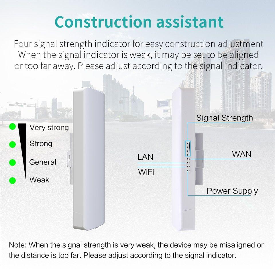 300mbps Wireless Outdoor Cpe Bridge 2 4g 2 14dbi Directional Wifi Antenna Long Range Point To Point Wireless Access Work Bridge Wifi Router Wifi Extender Wifi