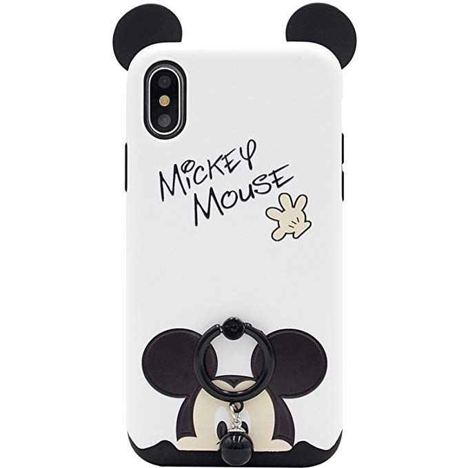 buy online 8d2ba e2fc2 Amazon.com: iPhone X Case, MC Fashion [Ring Grip & Kickstand Series ...