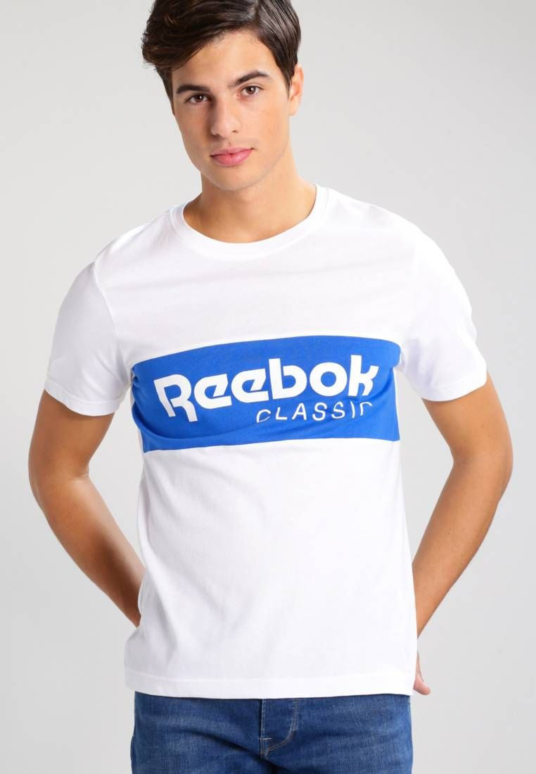 Reebok Classic ARCHIVE STRIPE - Camiseta print - white/awesom 6c79xM