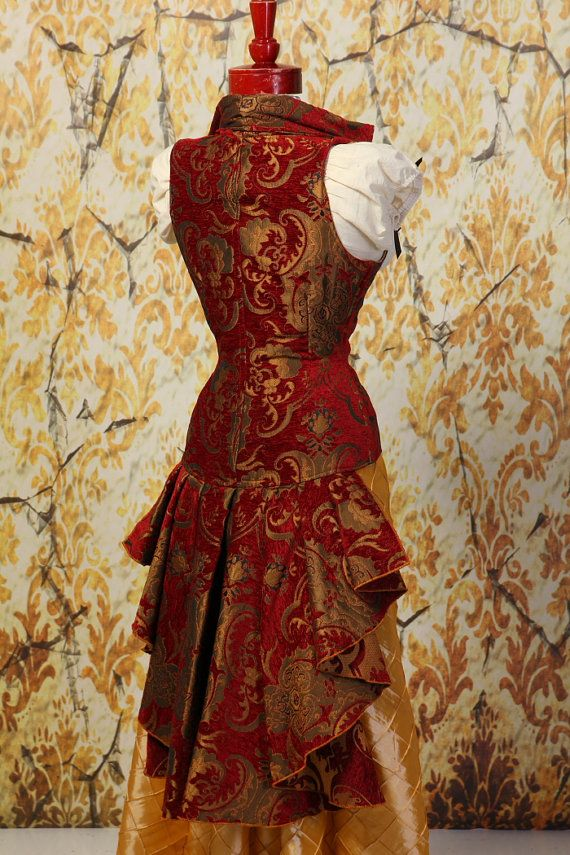 ff87b8a7c12 Waist 29 to 31-Royal Red and Gold Medallion by damselinthisdress ...