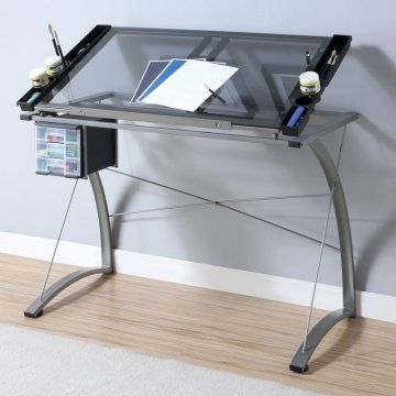 Monarch Champagne Metal Adjustable Tilt Top Drafting Desk - Drafting & Drawing Tables at Hayneedle ($200.00) - Svpply