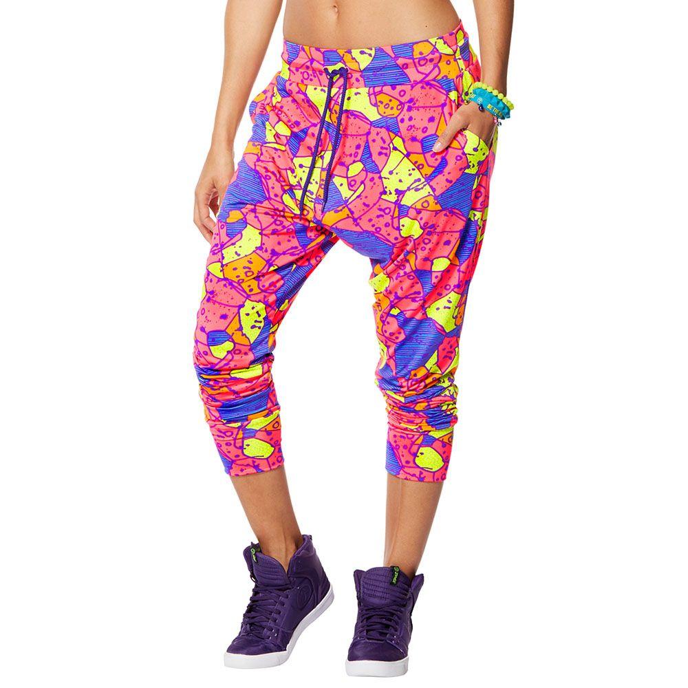 ZUMBA You Glow Girl Harem Pants Waterfall XL