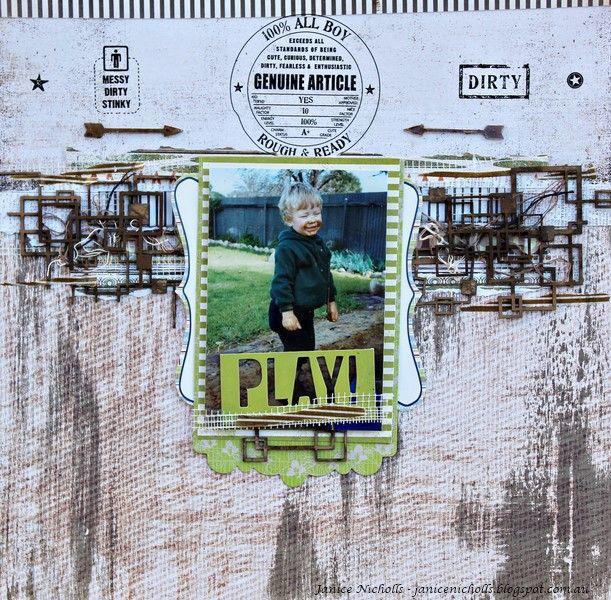 janice nicholls: Scrap The Boys - Play