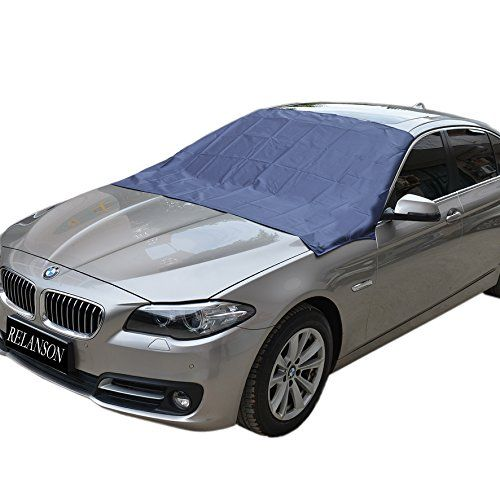 "Magnetic Edges Windshield Snow Cover - Frost Windshield Cover - Snow, Ice, Frost Guard No More Scraping - Door Flaps Windproof Fits Most Car, SUV, Truck, Van with 70""x 54"". For product info go to:  https://www.caraccessoriesonlinemarket.com/magnetic-edges-windshield-snow-cover-frost-windshield-cover-snow-ice-frost-guard-no-more-scraping-door-flaps-windproof-fits-most-car-suv-truck-van-with-70x-54/"