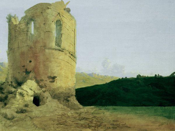 Karl Eduard Ferdinand Blechen Ruine Eines Rundturms Corinthe Peinture