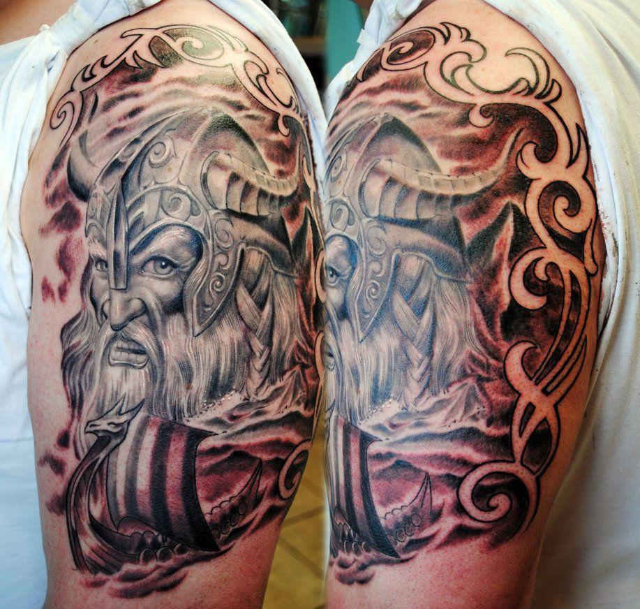 Viking Half Sleeve 2 By Gettattoo On Deviantart With Images Viking Tattoos Sleeve Tattoos Viking Tattoo Design