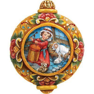 G Debrekht Derevo Drummer Boy Scenic Ornament Handpainted Christmas Ornaments Christmas Ornaments Hand Painted Ornaments