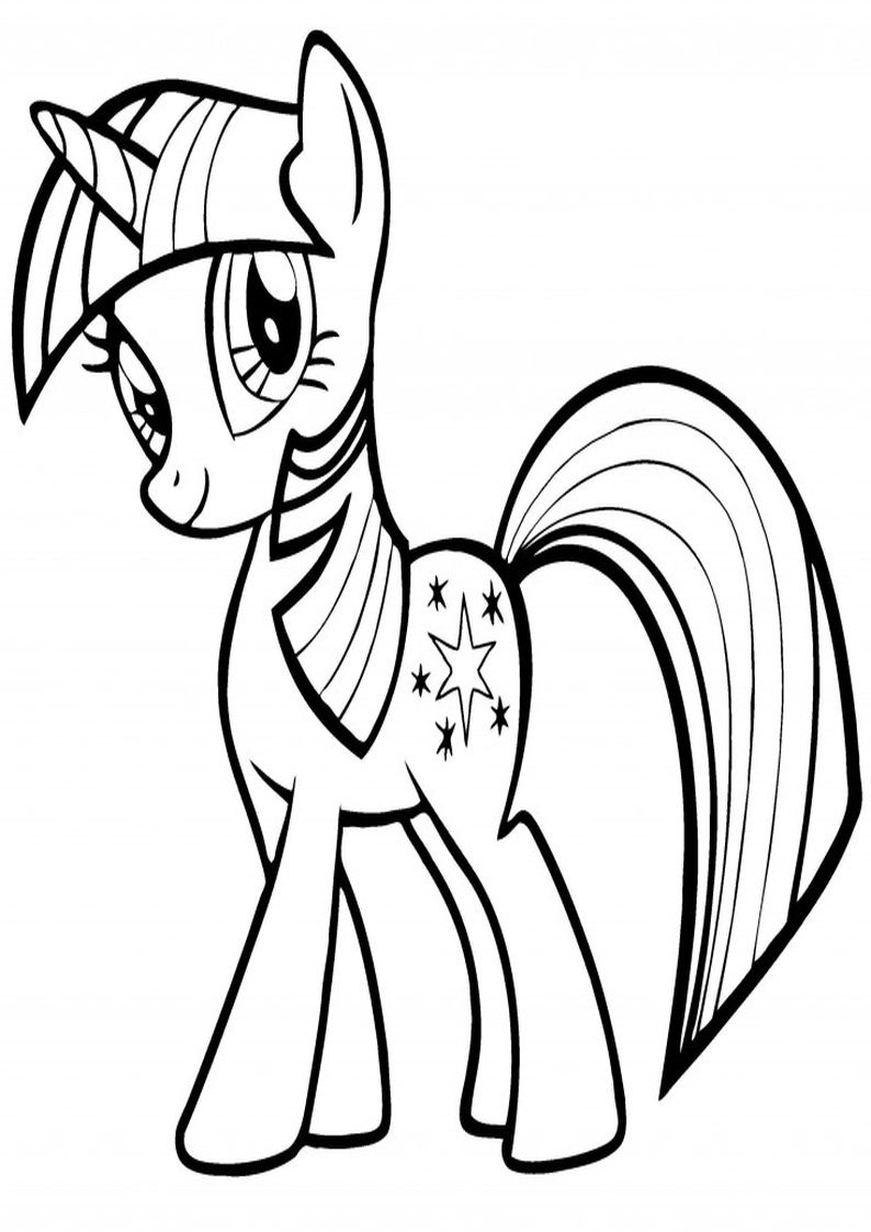Twilight Sparkle Kolorowanka My Little Pony Obrazek Nr 1 With