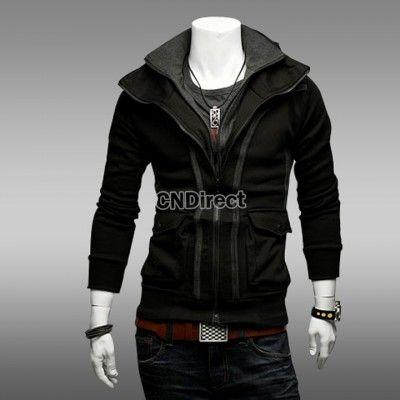 25% Off Stylish Slim Top Double Zipper Design Hoodies Stand Collar Tops Jacket Coat
